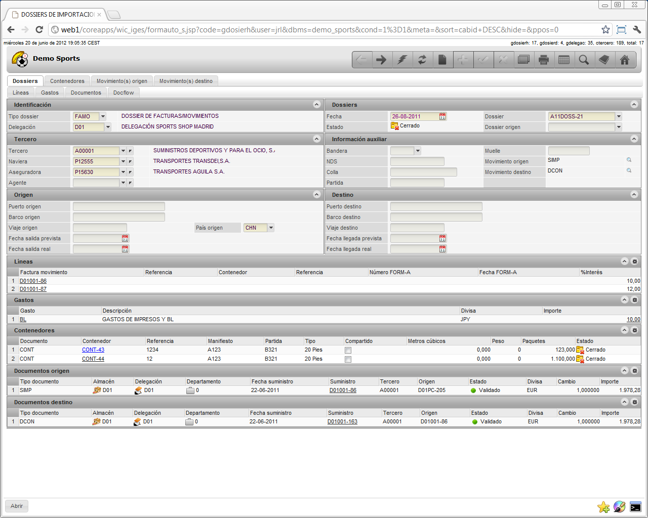 Import And Export Management Iem Deister Software